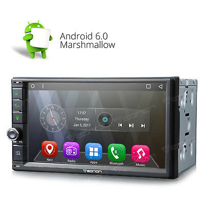 New Android 6.0 Double Din Car Stereo Radio GPS Wifi 3G OBD2 HD Cellphone Link O