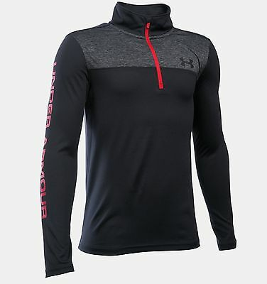 Under Armour UA Boys Tech 1/4 Zip Top Black