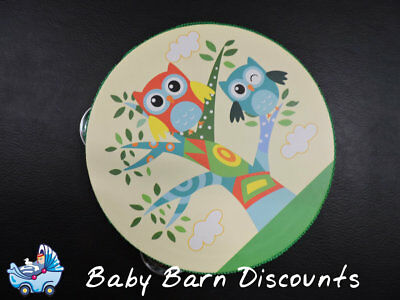 NEW Kaper Kidz - Colourful Wooden Owl Design Tambourine from Baby Barn Discounts
