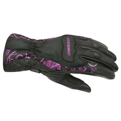 DriRider Womens Vivid 2 Motorcycle Gloves - Black/Pink Winter Touring Road Stree