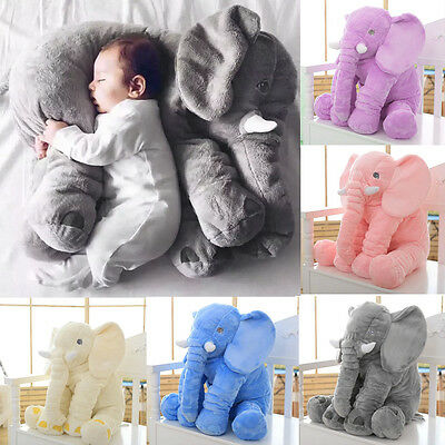 New Elephant Plush Toy Long Nose Lumbar Pillow Soft Stuffed Animal For Baby KiY