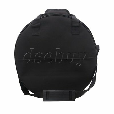 BQLZR 17.3 Inch 600D Waterproof Oxford Cloth Soft Padding Snare Drum Bag Black