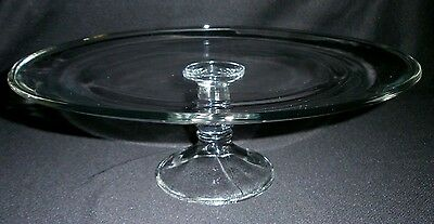 """Clear Glass Simple 13"""" Pedestal Cake Platter/Stand"""