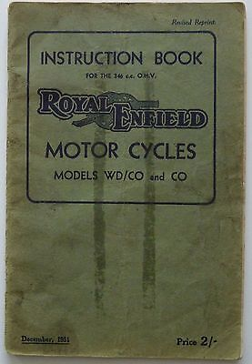 Royal Enfield WD/CO and CO Motorcycles - 1951