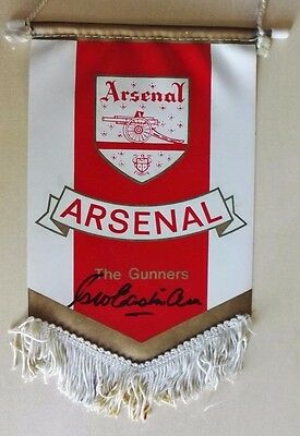 1960's Arsenal Football Club Signed Pennant. George Eastham - England 1966 Rare