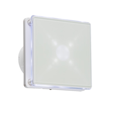 """4"""" LED Backlit Wall & Ceiling Extractor Fan With Overrun Timer & Low Noise"""