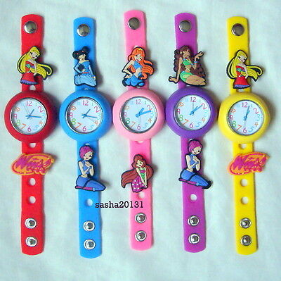 Winx  Jibbitz Band Watch  & A Set Of 7 Charms, Brand New