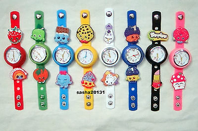 Shopkins Jibbitz Band Watch  & A Selection Of 9 Shopkin Charms, Brand New