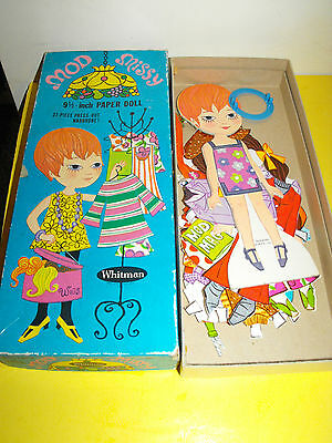 Vintage Rare Mod Missy Paper Doll Set With Original Box 1969 Whitman