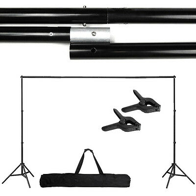 10Ft Adjustable Support Stand Photo Backdrop Crossbar Kit Photography TN