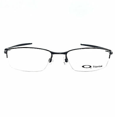 Oakley Transistor Eyeglasses 22-215 Polished Black Frame With Clear Lens Blank