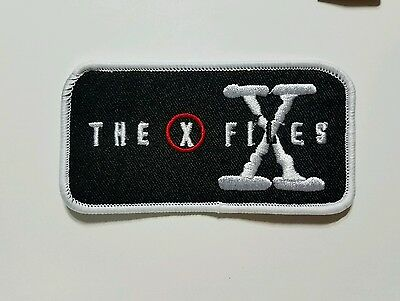 X files Logo embroidered Patch 4 inches long