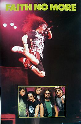 Rare Faith No More 1990 Vintage Original Music Poster