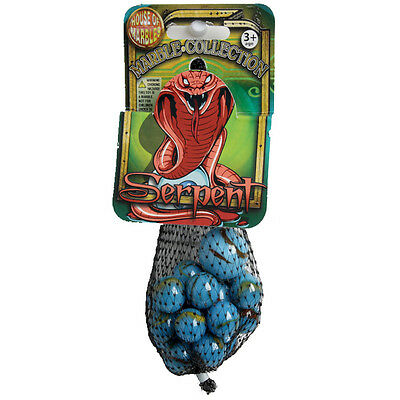 House Of Marbles SERPENT Net Bag 21 x GLASS MARBLES Traditional Collectable