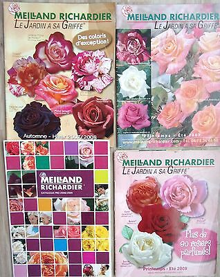 lot de 4 catalogues de fleurs ROSES   MEILLAND RICHARDIER