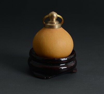 Chinese Auspicious Natural Gourd Plain Small Amulet Snuff Bottle-JR12060