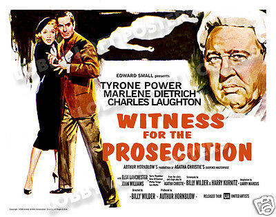 Witness For The Prosecution Lobby Card Poster Hs 1958 Tyrone Power