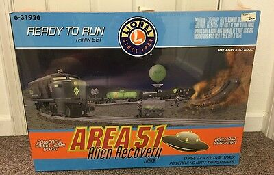 Lionel O Scale Area 51 Alien Recovery Train Set # 6-31926  NEW IN BOX / SEALED