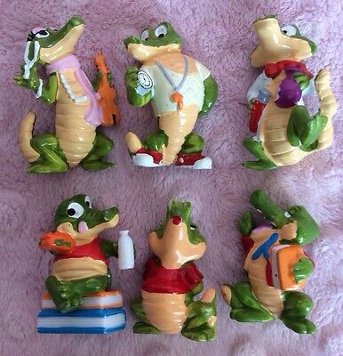 Croc Crocodile Alligator Ferrero Coach Kinder Egg Surprise Toy Figure Vtg Lot