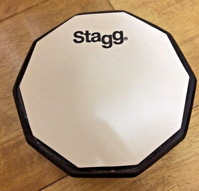 "New Stagg 6"" Drum Practice Pad Drumming // Free Shipping"