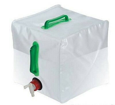 20L Water Carrier Container Foldable Collapsible With Tap Camping Bottle 159729