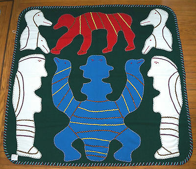 Lovely Wallhanging Irene Avaalaqiaq Baker Lake  Inuit Art