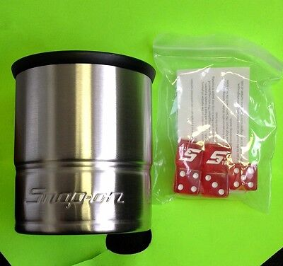 Snap on Collectible cup with 5 dice ! FREE SHIPPING!!!!!