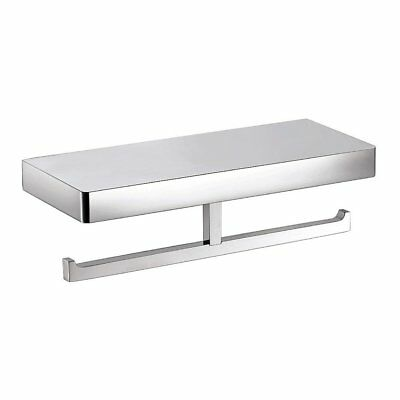Eneo Double Toilet Roll Holder with Shelf (Chrome) Streamline EN15