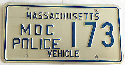 1974 - 1981 Massachusetts Metro District Commission Police License Plate 173