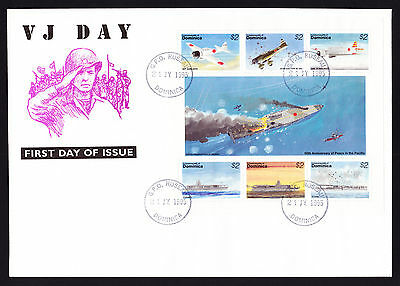Dominica 1995 VJ First Day Cover 50th Anniversary Peace Pacific stamp sheet FDC