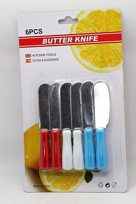6 Pcs Butter Knife Cutting Spread Cooking Tool Spreader Stainless