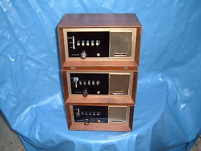 intercom old sears tube units three NICE cabinets for pre amp tuner OR WHATEVER