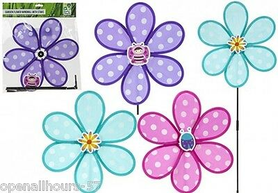 Decorative Colourful Flower Garden Windmill 3 Colours to choose from New