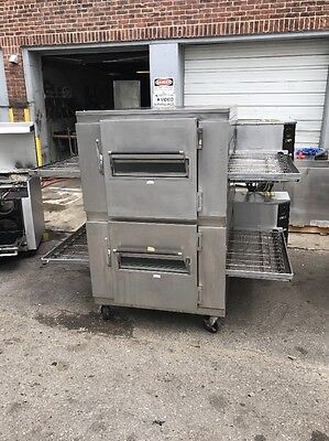 Lincoln 1450 Double Stack Conveyor Pizza Oven Used