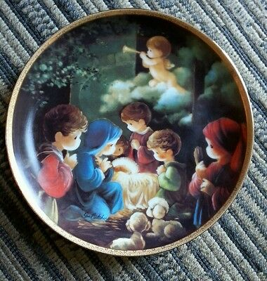 Hamilton Collection Precious Moments Bible Story Come Let Us Adore Him Plate '91