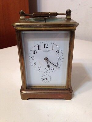 Rare Antique Tiffany & Co French Carriage Clock With Repeater Coil Gong