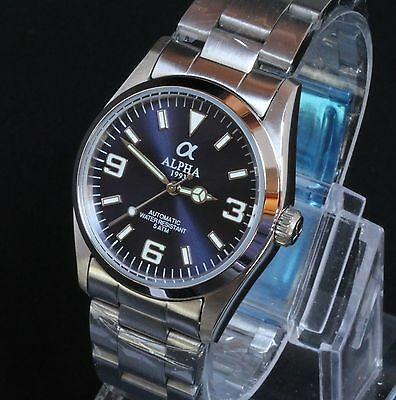 Alpha 369 Automatic Movement Blue Dial brand new Solid Stainless Steel 316L