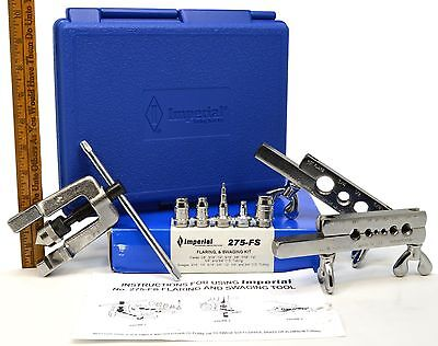 New in Box! IMPERIAL FLARING & SWAGING KIT No. 275-FS Complete in PLASTIC CASE!