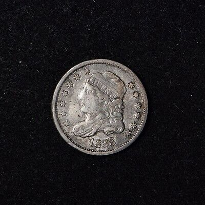 1833 5C H10C Capped Bust Silver Half Dime Beautiful Us Type Coin