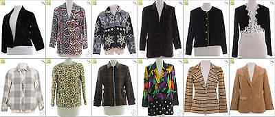 "JOB LOT OF 19 VINTAGE WOMEN""S JACKETS - Mix of Era's, styles and sizes (18845)*"