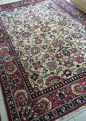 "BEAUTIFUL ANTIQUE 1955 PERSIAN HANDKNOTTED HERIZ Carpet RUG (11'5""x8'2""ft)"