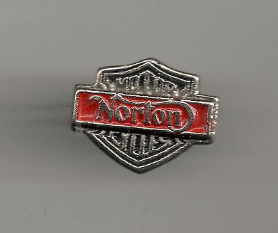 Vintage Norton Mini Shield P old motorcycle old metal lapel pin