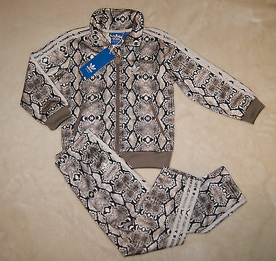 Adidas Originals BNWT Girls Unique Snake Pattern Tracksuit Age 3-4 Years
