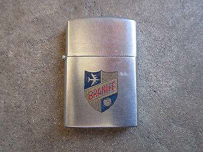 vintage 1960 Braniff Airlines Pilot Tradeship Lighter