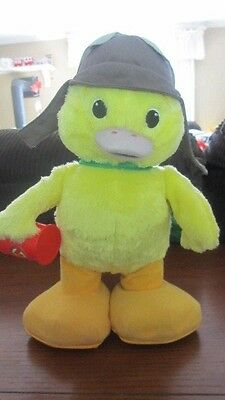 "2008 Wonder Pets Interactive 12"" Ming Ming Talking Dancing Plush Motion Toy Duck"