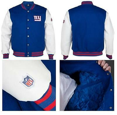 Mens Nfl American Football New York Giants Balfour Letterman Jacket Rrp £169.99