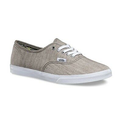 e6cc5f0818 Vans AUTHENTIC LO PRO Mens Womens Floral Chambray Grey Athletic Skateboard  Shoes