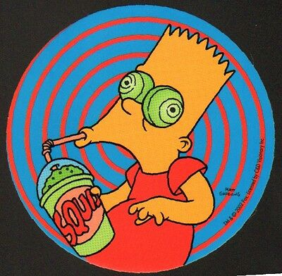 STICKER - The Simpsons Bart Squishee Vinyl Decal  SB26 Officially Licensed