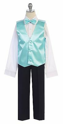 Men & Boy's Satin Formal Vest & Bowtie Add To Tuxedo Suit  Made in USA All Sizes