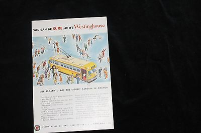 1940's Westinghouse Ad for Trolley Bus